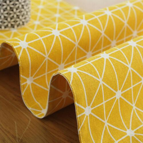 Cotton Linen Plaid Table Runner Dining Table Decoration