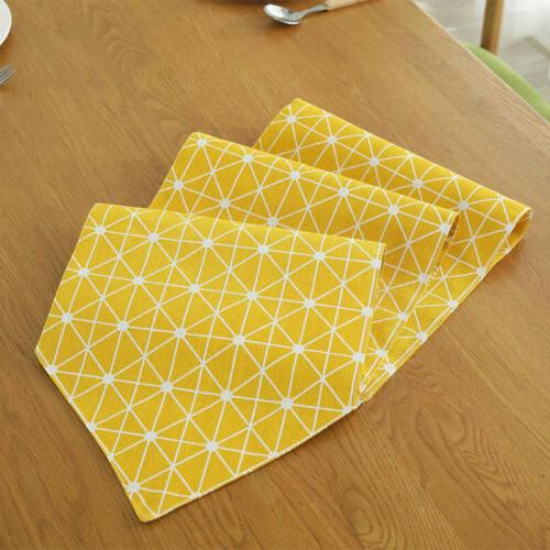 Cotton Linen Runner Dining Table Decoration