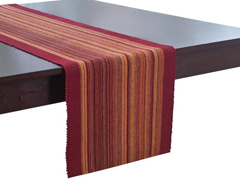 cotton table runner casual classic stripe 13