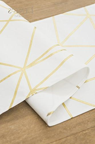 72 Gold Geometric for Stylish Party Decor, Cotton