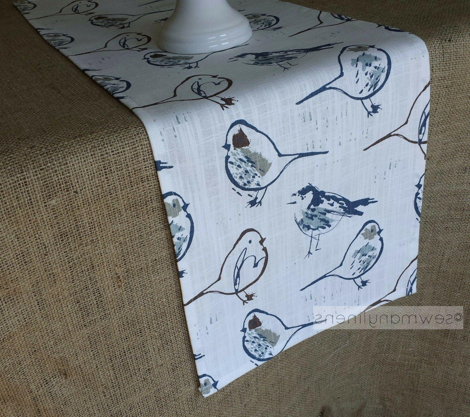 country cottage table runner bird farmhouse home