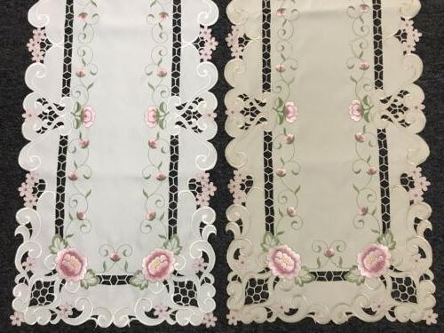Cutwork Embroidered Placemat Table Wedding Dining