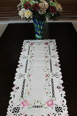 Cutwork Embroidered Placemat Table Runner Scarf Wedding Party