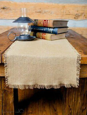 deluxe burlap natural tan runner 8 x24