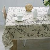 Earthly Concern World Map Tablecloth Table & Sofa Linens - W