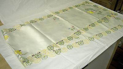 easter embroidered table runner 72 inches x