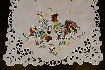 easter holiday chicken rooster egg embroidered tablecloth