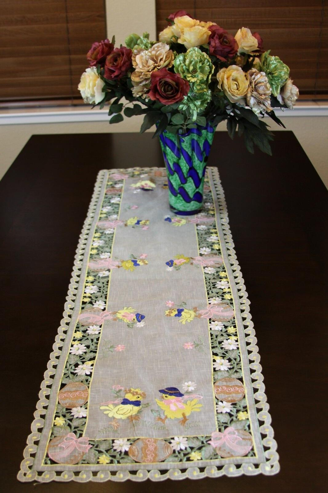Easter Organza Baby Table Runner Scarf