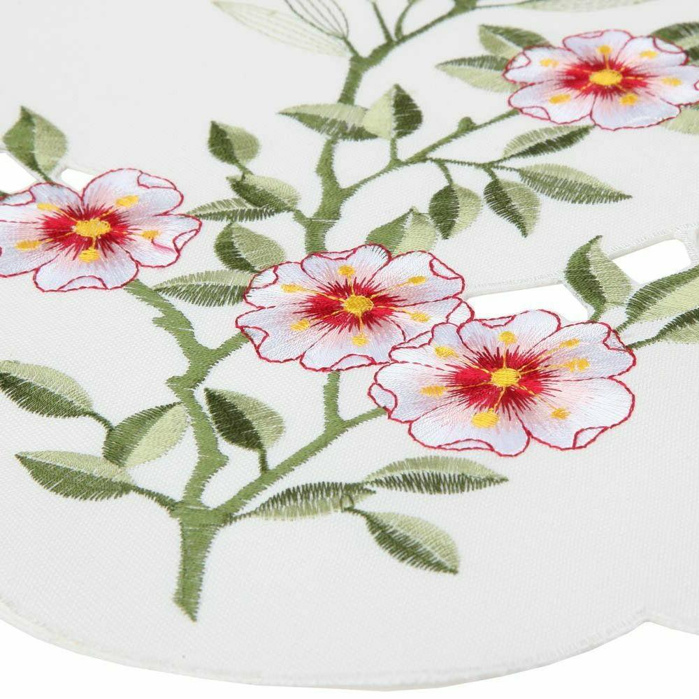 Embroidered Floral Table