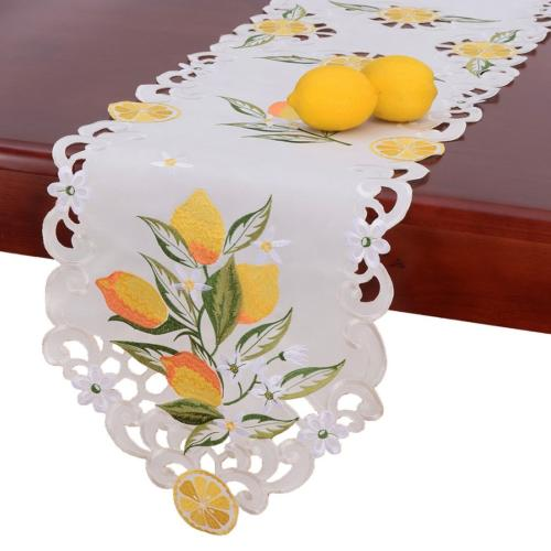 Simhomsen Embroidered Lemon Table Runners, Table Decors for
