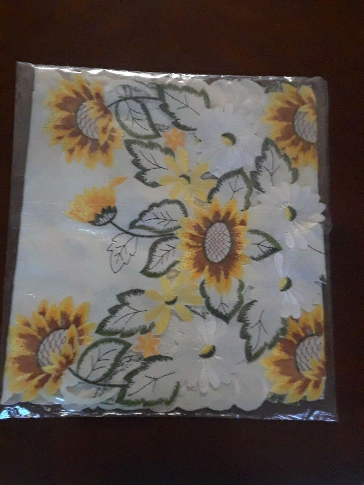 Embroidered Sunflower Table