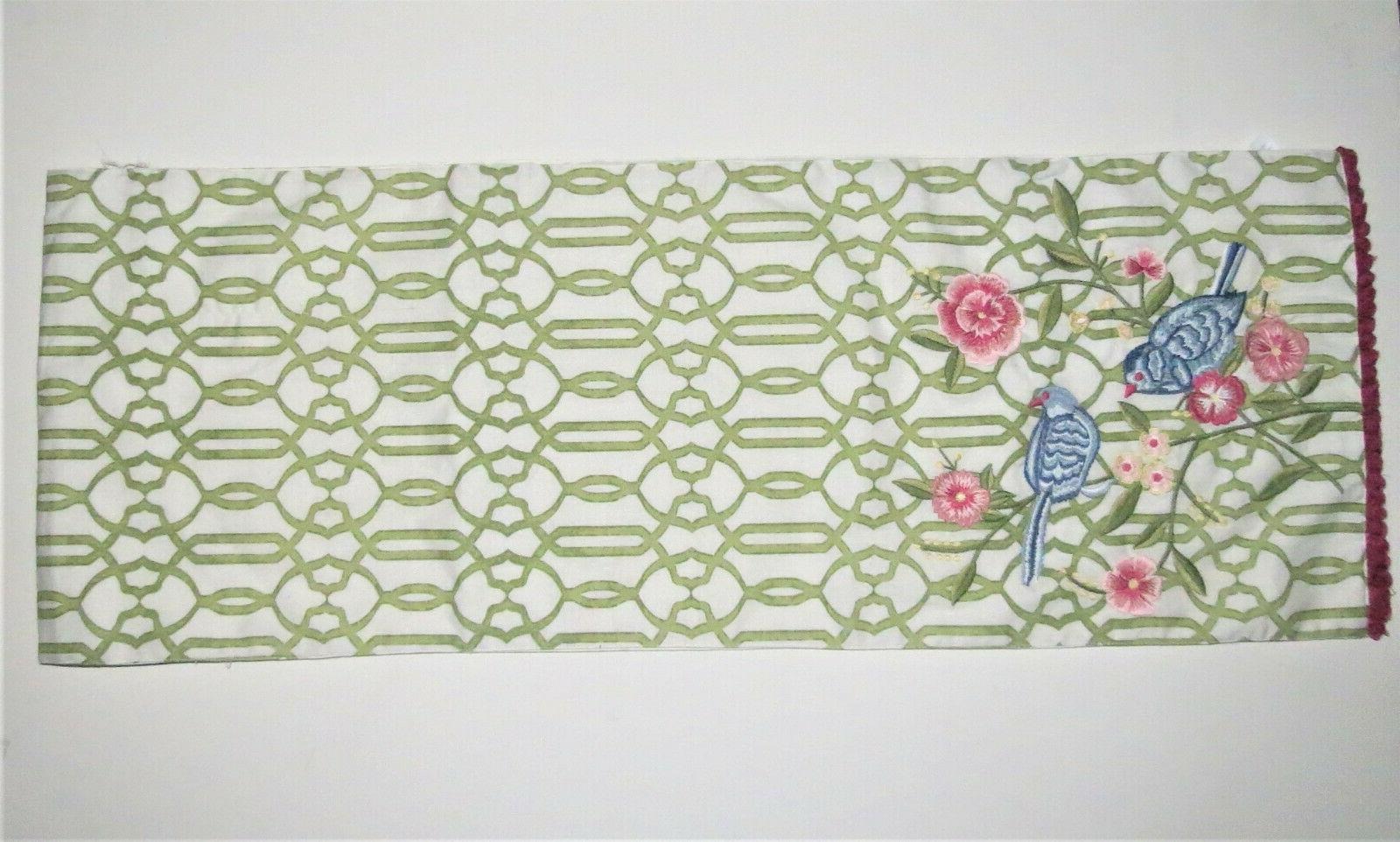 Pier One TABLE RUNNER FLORAL WITH BIRDS Decor