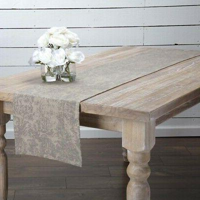 farmhouse country table runner cotton linen blend