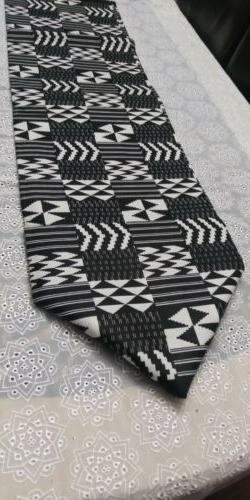 Farmhouse Table Runner Black White Buffalo Check Plaid 15""