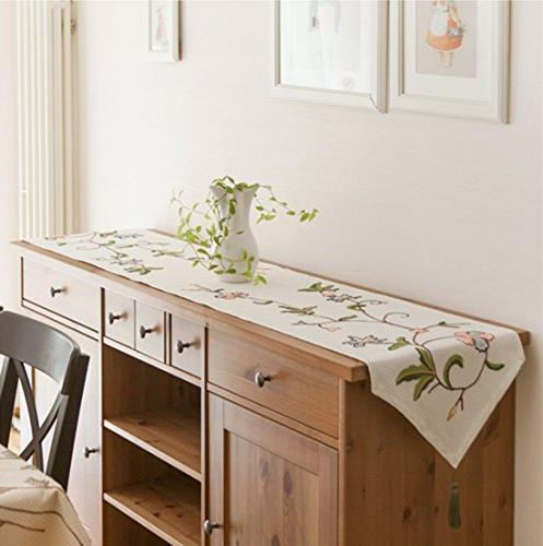 Ethomes floral embroidered handmade hemstitch kitchen table ...