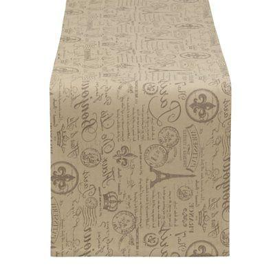 french flourish printed table runner