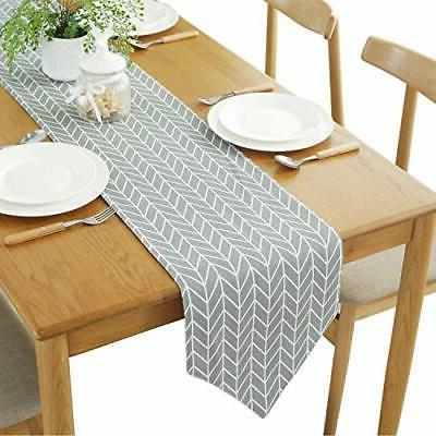 geometry checkered table runner for kitchen dining