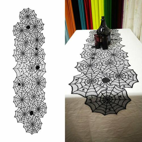 Halloween Black Web Table Party Home US
