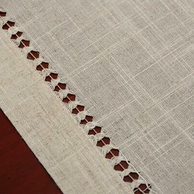 Grelucgo Hemstitched Rectangle Lace Table Runners