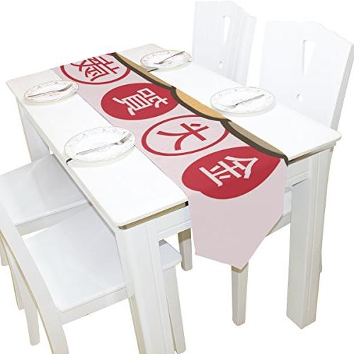 2018 Rectangle Table Runner 13 x with Placemat 12 x 18 of for Party, Dinner, Picnic