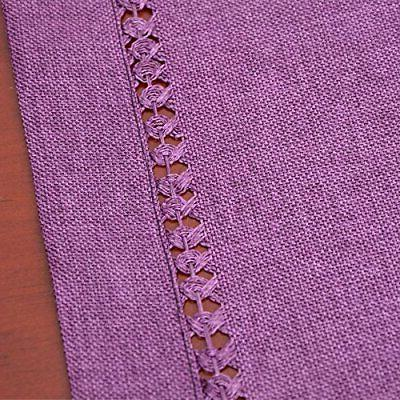 Grelucgo Hemstitch Table Runner Or Scarf, Solid