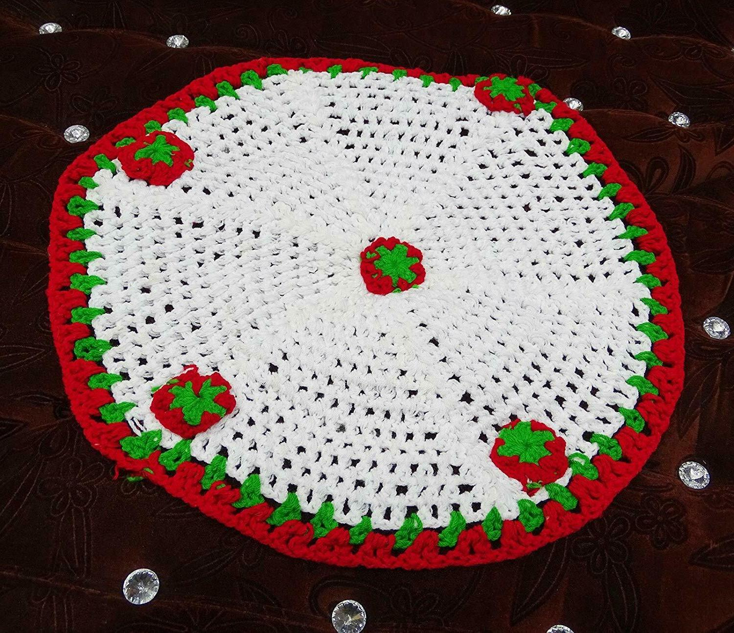 indian crochet pattern round table runner handmade