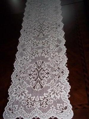 LACE TABLE RUNNER IVORY FLORAL HOME DECOR ACCENT 36 X 14 ITR