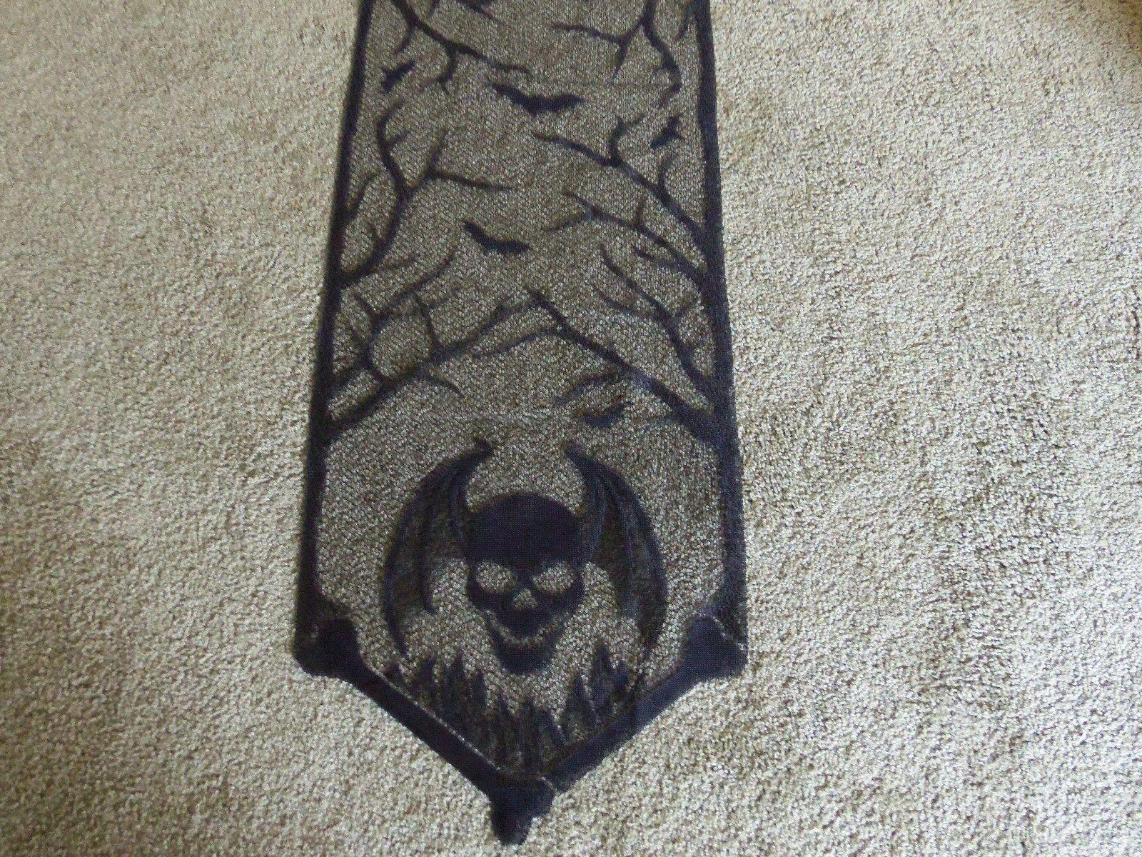Lace Table Runner Black Halloween Gothic Punk 54
