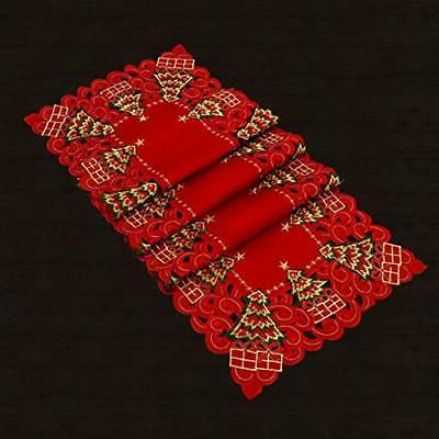Grelucgo Holiday Holly Table Runner,