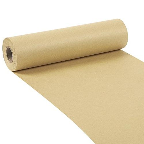 NEW 100 Feet Long 10 x 1200 Inches Brown Kraft Paper Roll Fo