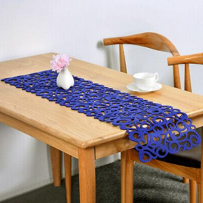 LO Rectangle Hollow Felt Tablecloth Runner Placemats Table M
