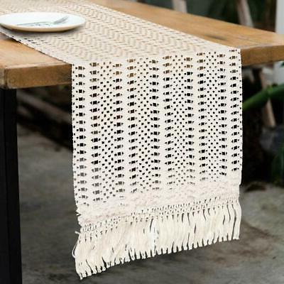 PartyTalk Natural Table Runner Cotton Boho with for Rustic Shower Home Table Decor, 12