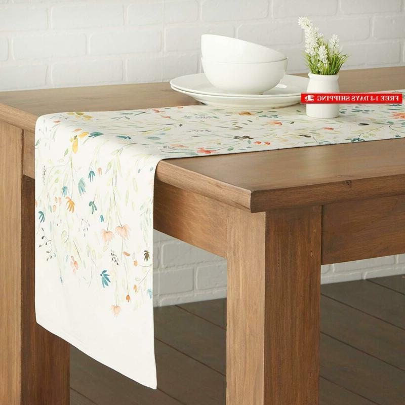 Maison 100% Table Runner 14.5 - Inch By 72 Inch.