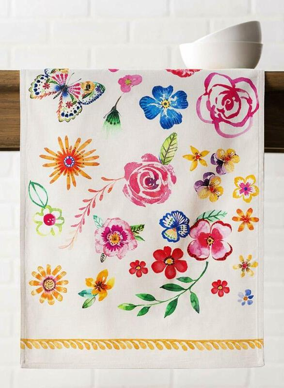 Maison Hermine Happy Florals 100% Cotton Table Runner Layer