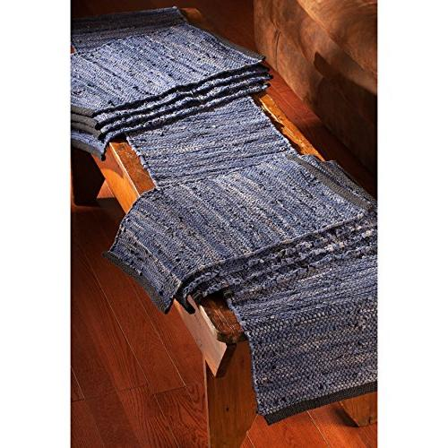 St. Croix Trading Matador Blue Table Runner and Place Mats Set