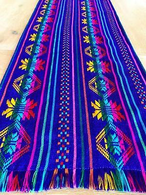 mexican fabric table runner or tablecloth rainbow
