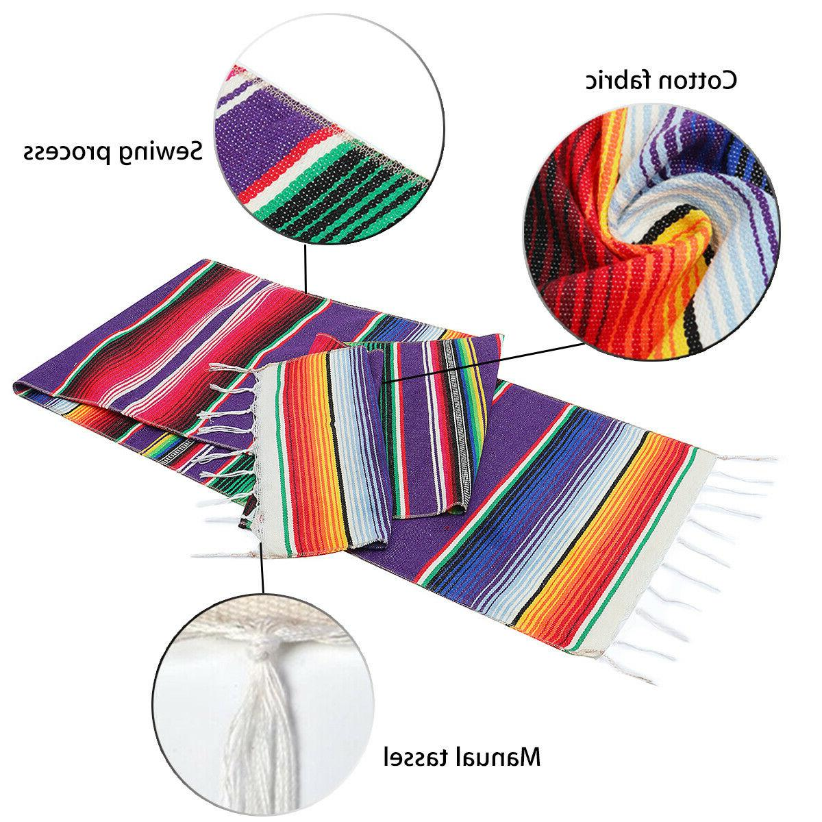 14x84'' Mexican Table Serape Mubarak
