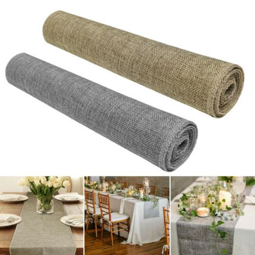 Nature Linen Vintage Burlap Table Wedding Party