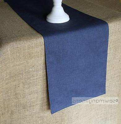 navy blue table runner dining kitchen home