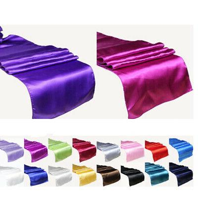 """New Satin Table Runner 12"""" X 108"""" Wedding 18 Color"""