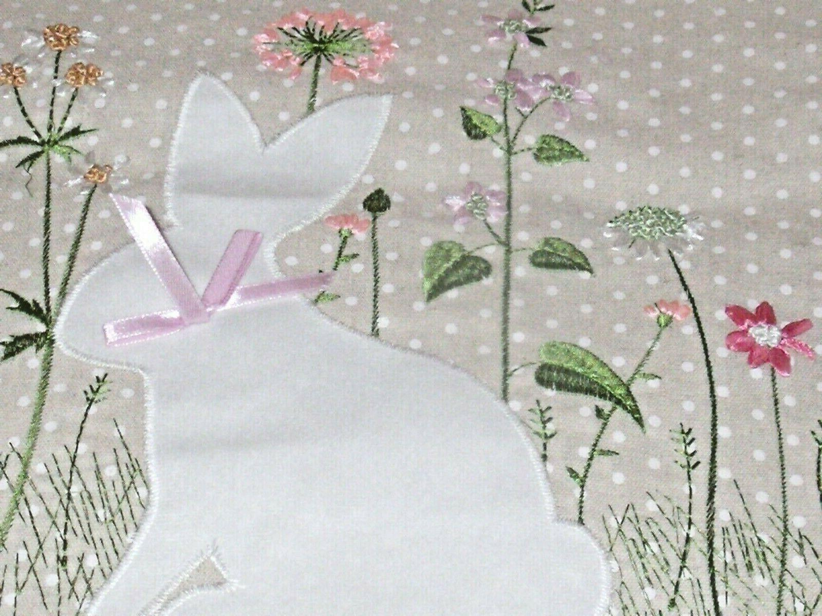NEW RUNNER Linen Look EMBROIDERED EASTER