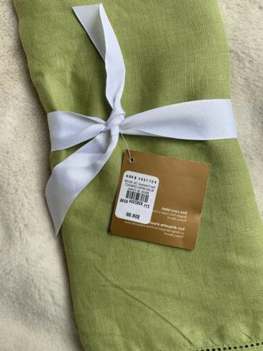 NWT Barn runner 100% linen flax hemstitched 16