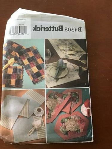 patterns b4308 table runner placemats and napkins