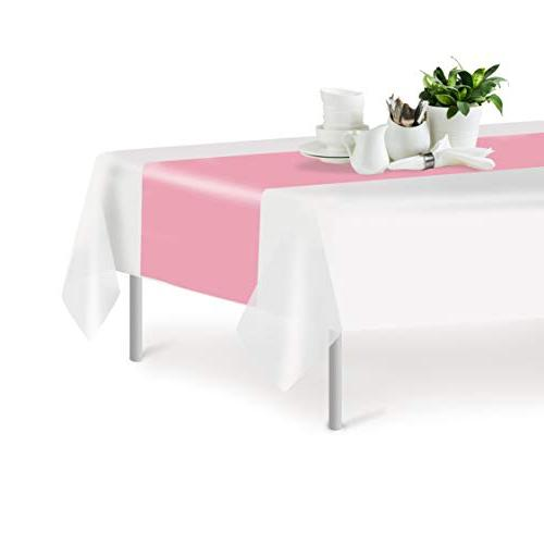 Pink Disposable Table 14 108 Inch. Decorative Runner Dinner Events, Decor By Grandipity