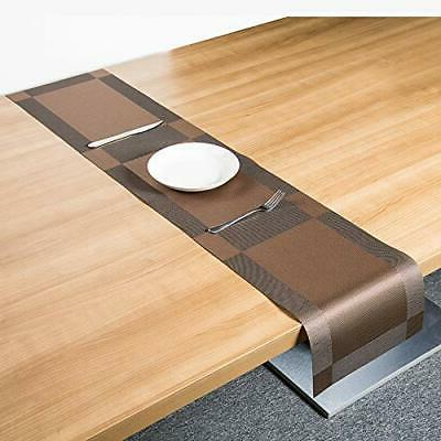 Placemats 6 + 1 Stain Resistant Washable PVC Table Non