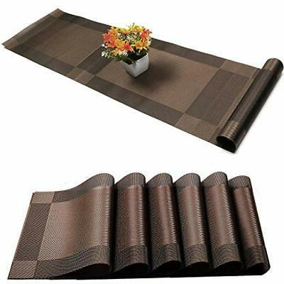 Placemats Set + Table Stain Washable PVC Table Mats