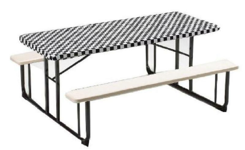 Creative Converting Plastic Stay Put Banquet Table Cover 30