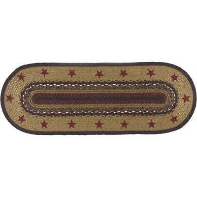 primitive oval table runner decorative dining kitchen