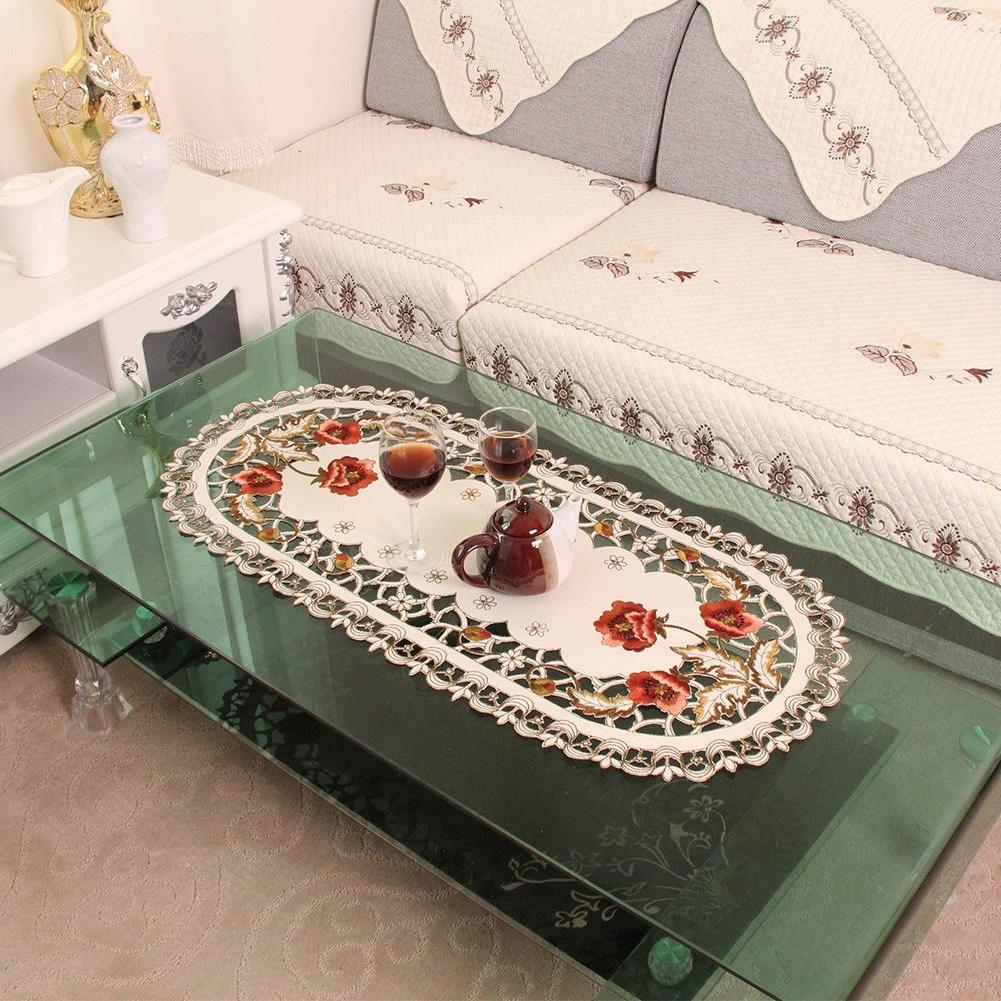 Retro European Floral <font><b>Home</b></font> Room Decoration Decor Chemin <font><b>Table</b></font>