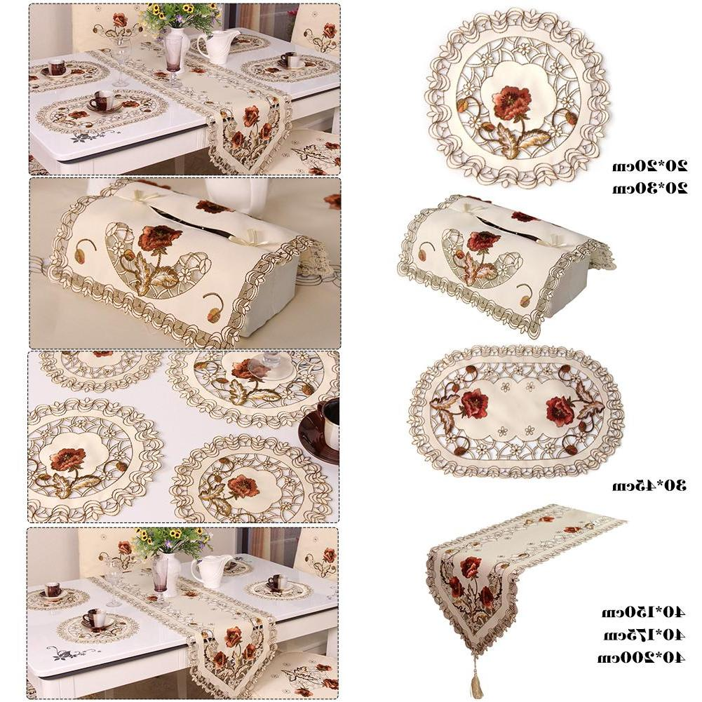 Retro Floral Tablecloth <font><b>Runner</b></font> <font><b>Home</b></font> Dining Decoration De <font><b>Table</b></font>